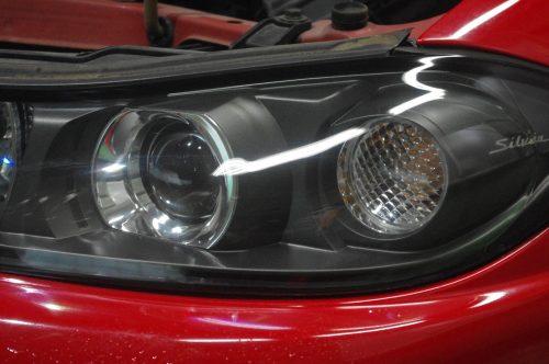 S15シルビアのヘッドライト磨き
